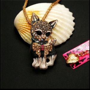 Betsey Johnson Kitten Necklace